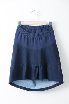 さかさまストレッチデニムスカート 試着