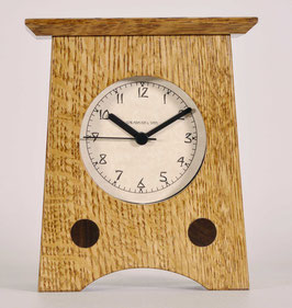 Arts and Crafts Clock with Nut Brown Oak Finish   AC-2-NBO