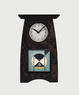 Arts & Crafts 4x4 Tile Clock - Slate Finish
