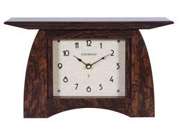 Arts and Crafts Mantel Clock - Craftsman Oak Finish