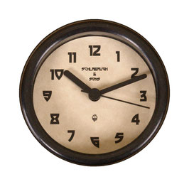 "3 1/4"" (83mm) Clock Fit-up  Greene & Greene Design with black rim. 200273"