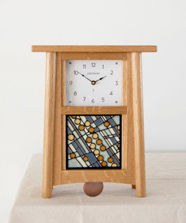 Scandinavian Pendulum Clock - Natural Oak Finish
