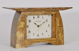 Arts and Crafts Mantel Clock WITH Nut Brown Oak Finish ACM-6-NBO