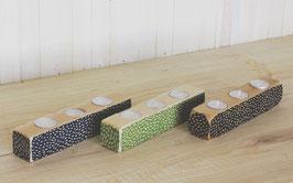 "10"" Long Candleholders-Dots Pattern    K-CH03-DT"