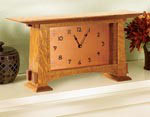 Arts and Crafts Mantel Clock Movement & Dial 200CRT-PARCH