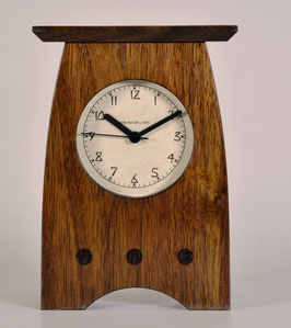 Arts and Crafts Clock in Solid Walnut   AC-3-WAL