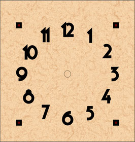 """Arts & Crafts Clock Dial  6 5/16"""" x 6 5/8""""  20099-D"""