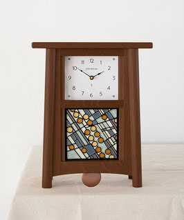 Scandinavian Pendulum Clock - Walnut Finish