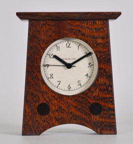 Arts and Crafts Clock with Craftsman Oak  Oak Finish   AC-2-CO