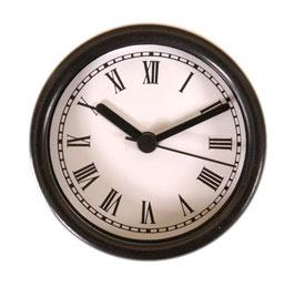 "3 1/4"" (83mm) Clock Fit-up  White Roman/Black Bezel 200260"