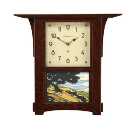 Arts and Crafts Mantel OR Wall Clock Craftsman Oak Stain ACW-86-CO