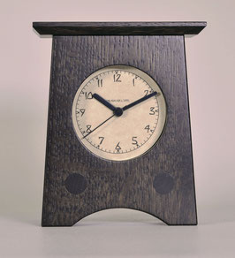 Arts and Crafts Clock in Quartersawn White Oak with Slate  Finish   AC-2-SLATE