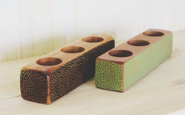 "Kara Lynn Planter  Triple-Planter  Dots 3.5 x 3.5"" and 16"" Long  K-WP05-DT"