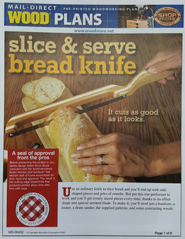 WOOD Magazine Bread Knife Plan