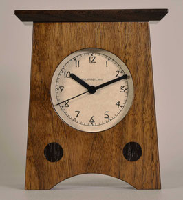Arts and Crafts Clock Solid Walnut   AC-2-WAL