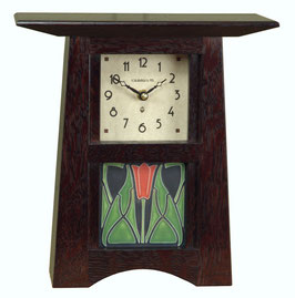 Craftsman Tile Clock with Slate Finish & 4 x 4 Tile        CTC-44-SLATE