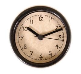 "3 1/4"" (83mm) Clock Fit-up  Arts & Crafts Style w/Black Rim 200266"