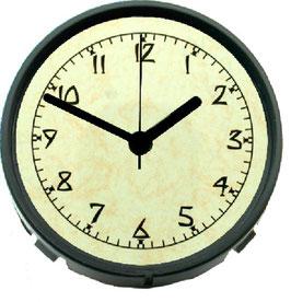 "3 1/8"" (78mm) BACK MOUNT Clock Fit-up  Arts & Crafts Ivory Dial 200290"