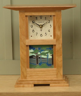 Prairie Style Tile Clock with your choice of any handcrafted Motawi 4x4 tile