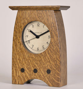 Arts and Crafts Clock with Nut Brown Oak  Finish   AC-3-NBO