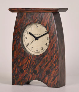 Arts and Crafts Clock with Craftsman  Oak  Finish   AC-3-CO