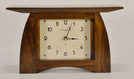 Arts and Crafts Mantel Clock in Solid Walnut  ACM-6-WAL