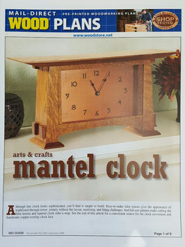 Arts and Crafts Mantel Clock Plan MD-00498