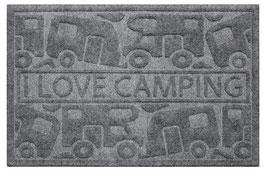 """Fußmatte """" I LOVE CAMPING"""""""