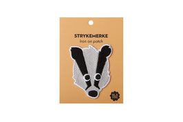 BlaFre Iron On Patch Badger