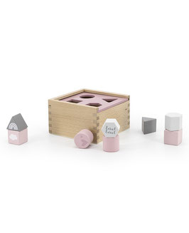 Holz Sortierbox Pink