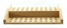 Display Holz mit 60 Steckplätzen