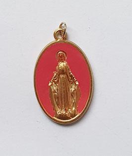 "Médaille ""la Majestueuse"" fuchsia"