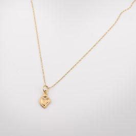"""Médaille """"coeur"""" parce que je t'aime"""