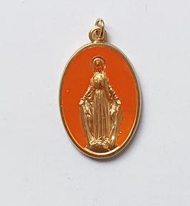 """Médaille """"la Majestueuse"""" orange"""