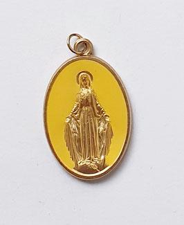 """Médaille """"la Majestueuse"""" jaune moutarde"""