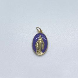 """Médaille """"La Miraculeuse"""" violet"""