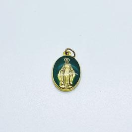"""Médaille """"La Miraculeuse"""" vert"""