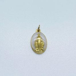 """Médaille """"La Miraculeuse"""" blanc"""