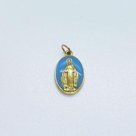 "Médaille ""La Miraculeuse"" bleu marine"