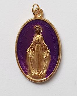 """Médaille """"la Majestueuse"""" violette"""
