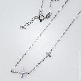 Trésor précieux croix collier