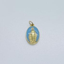"""Médaille """"La Miraculeuse"""" bleu ciel"""