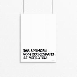 Kunstdruck - Das Springen vom Beckenrand....