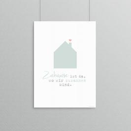 Kunstdruck - Zuhause
