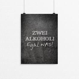 Kunstdruck - Zwei Alkohol...