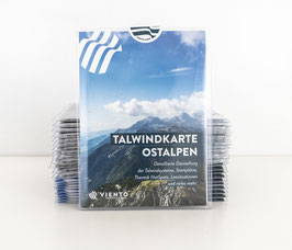 10 x TALWINDKARTEN / VALLEY WIND MAPS / FOLDED