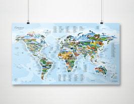 Paragliding Map Poster (97,5 x 56 cm, gerollt 60x6 cm) | JETZT für kurze Zeit MINUS 20%