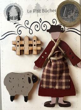 """Boutons """" Adèle et son mouton"""""""