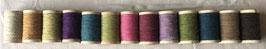 """Lot de 13 bobines de rustic wool Moire """" ambiance Piou-Piou """" variante + un fat pour punch needle en cadeau"""