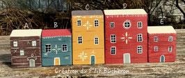 Maisons en bois ( décorées sur 2 faces )